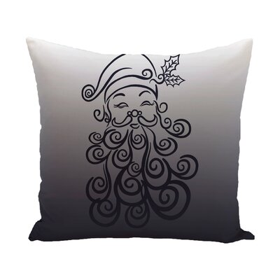 Santa Baby Decorative Holiday Print Throw Pillow Size: 18 H x 18 W, Color: Grey/Ivory