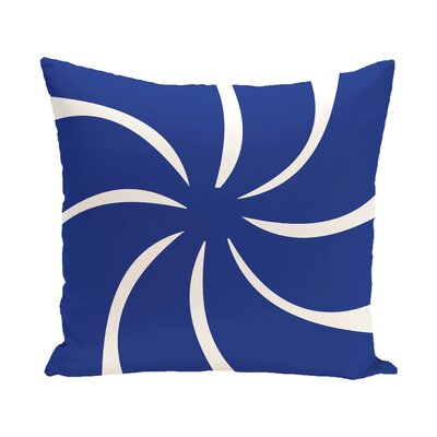 Decorative Holiday Geometric Print Throw Pillow Color: Royal Blue, Size: 18 H x 18 W
