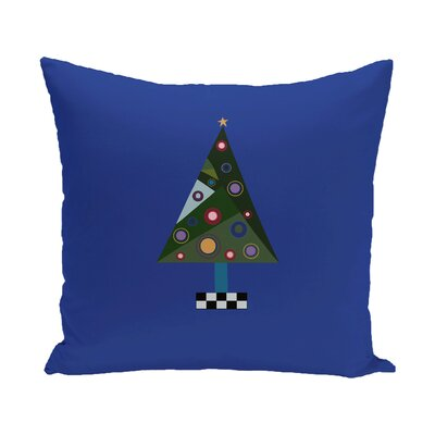 Crazy Christmas Decorative Holiday Print Throw Pillow Size: 18 H x 18 W, Color: Dark Green