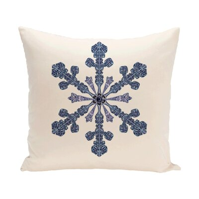 Vail Decorative Holiday Print Throw Pillow Size: 16 H x 16 W, Color: Ivory / Cream
