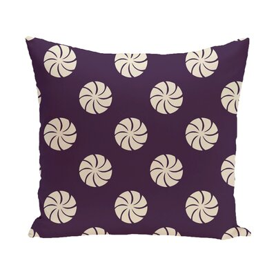 Decorative Holiday Geometric Print Throw Pillow Size: 26 H x 26 W, Color: Burgundy/Ivory