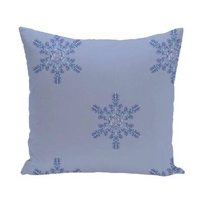Flurries Decorative Holiday Print Throw Pillow Size: 16 H x 16 W, Color: Blue/Lavender