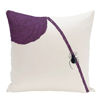 Eensy Weensy Spider Holiday Print Throw Pillow Size: 16 H x 16 W, Color: Purple