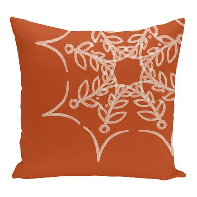 Web Art Holiday Print Throw Pillow Size: 18 H x 18 W, Color: Orange