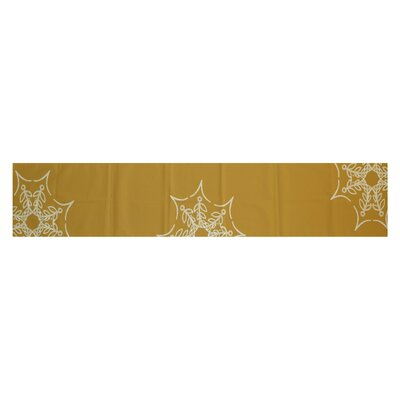 Web Art Holiday Print Gold Indoor/Outdoor Area Rug Rug Size: 3 x 5