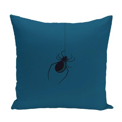 Eeek! Holiday Print Throw Pillow Color: Teal, Size: 18 H x 18 W
