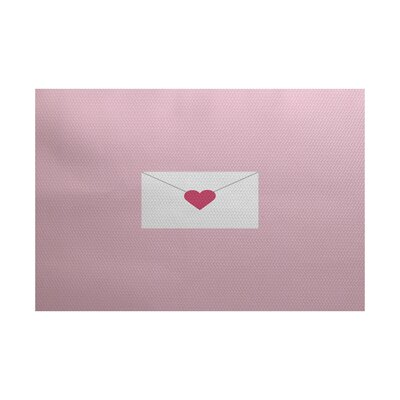 Valentines Day Pale Pink Indoor/Outdoor Area Rug Rug Size: 4 x 6