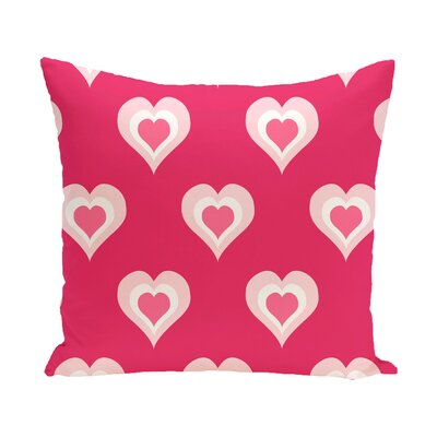 Valentines Day Throw Pillow Size: 16 H x 16 W, Color: Fuchsia