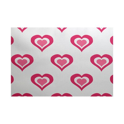 Valentines Day Fuchsia Indoor/Outdoor Area Rug Rug Size: 3 x 5