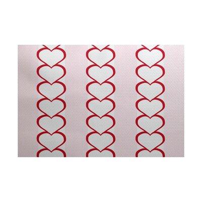 Valentines Day Red Indoor/Outdoor Area Rug Rug Size: 2 x 3