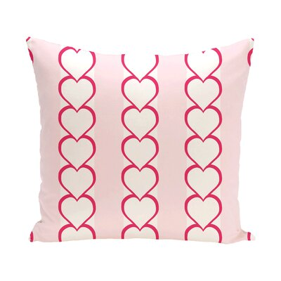 Valentines Day Outdoor Throw Pillow Color: Fuchsia, Size: 16 H x 16 W