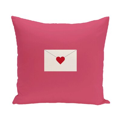 Valentines Day Outdoor Throw Pillow Color: Pink, Size: 16 H x 16 W