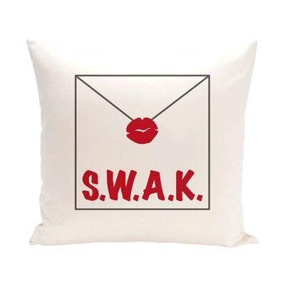 Valentines Day Throw Pillow Size: 18 H x 18 W, Color: Red