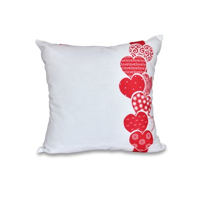 Valentines Day Throw Pillow Size: 16 H x 16 W, Color: Red
