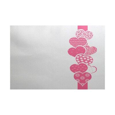 Valentines Day Pink Indoor/Outdoor Area Rug Rug Size: 3 x 5