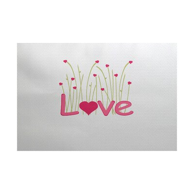 Valentines Day Fuchsia Indoor/Outdoor Area Rug Rug Size: 3 x 5