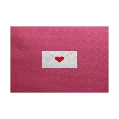 Valentines Day Pink Indoor/Outdoor Area Rug Rug Size: 2 x 3