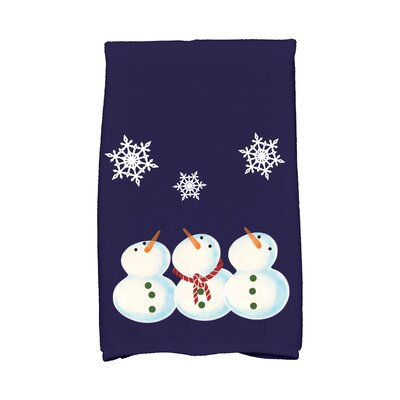 Coastal Christmas 3 Wise Showmen Hand Towel Color: Blue