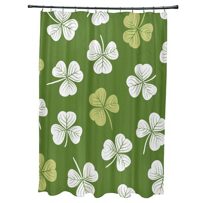 Funky Junky Lucky Shower Curtain Color: Dark Green