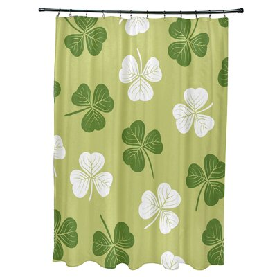 Funky Junky Lucky Shower Curtain Color: Light Green
