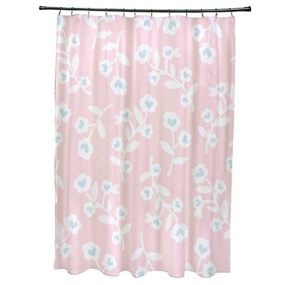 Valentines Floral Shower Curtain Color: Pink