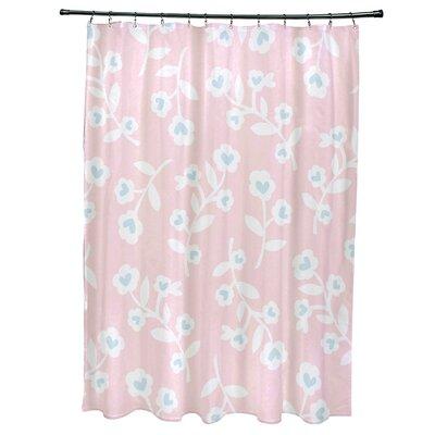 Valentines Floral Shower Curtain Color: Pink