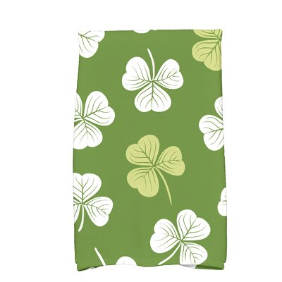 Funky Junky Lucky Hand Towel Color: Dark Green