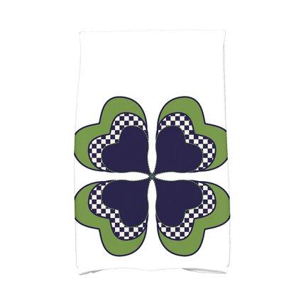 Funky Junky 4 Leaf Clover Hand Towel Color: Navy Blue