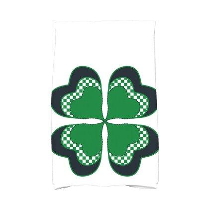 Funky Junky 4 Leaf Clover Hand Towel Color: Green