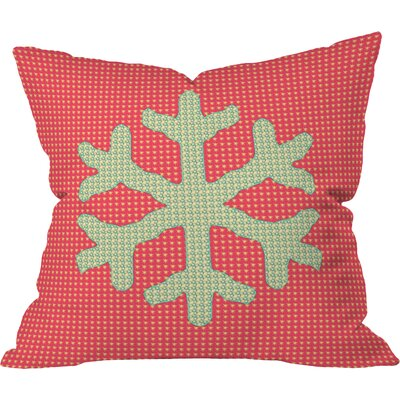 Oosterhout Snowflake Throw Pillow Size: Small