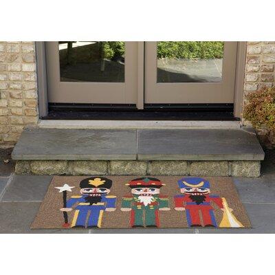 Hand-Tufted Brown Indoor/Outdoor Area Rug Rug Size: 26 x 4