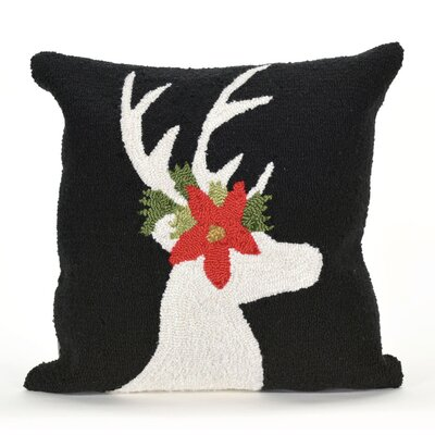 Reindeer Indoor/Outdoor Throw Pillow