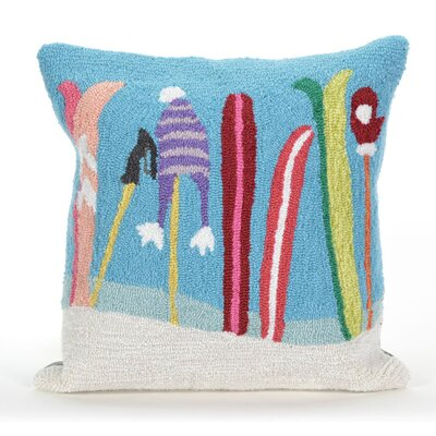 Gone Skiing Indoor/Outdoor Throw Pillow
