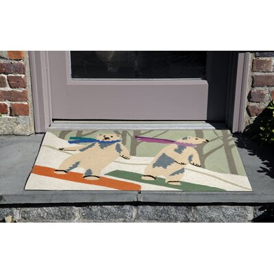 Boarding Bears Multi Indoor/Outdoor Area Rug Rug Size: 2 x 3