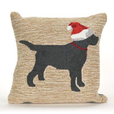 Christmas Dog Outdoor Throw Pillow