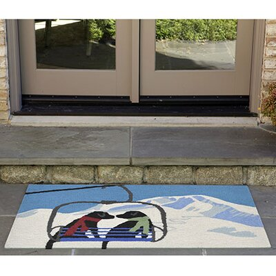 Hand-Tufted Blue Indoor/Outdoor Area Rug Rug Size: 2 x 3