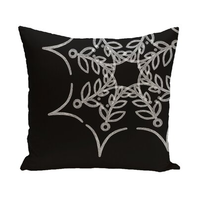 Web Art Holiday Print Outdoor Throw Pillow Size: 18 H x 18 W, Color: Black