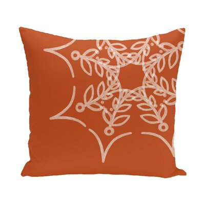 Web Art Holiday Print Outdoor Throw Pillow Size: 20 H x 20 W, Color: Orange