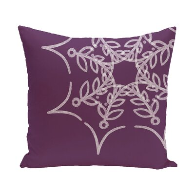 Web Art Holiday Print Outdoor Throw Pillow Size: 20 H x 20 W, Color: Purple