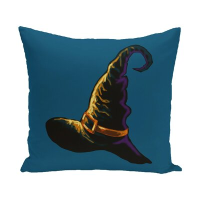 Witchcraft Holiday Print  OutdoorThrow Pillow Size: 20 H x 20 W, Color: Gold