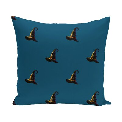 Witches Brew Holiday Print Outdoor Throw Pillow Size: 18 H x 18 W, Color: Teal