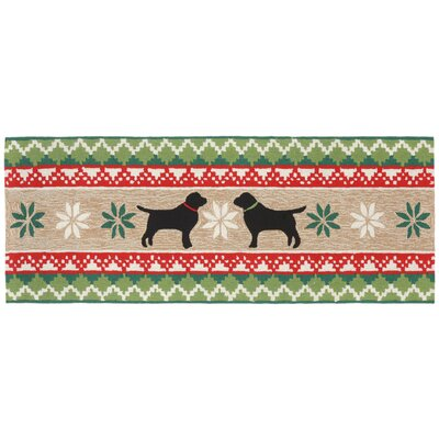 Hand-Tufted Natural Indoor/Outdoor Area Rug Rug Size: Runner 23 x 6