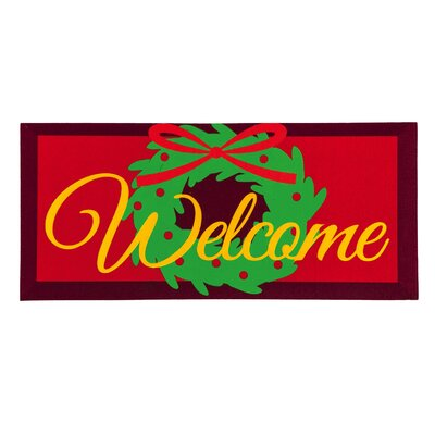 Welcome Door Wreath Sassafras Switch Mat