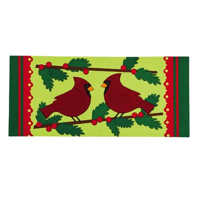 Winter Cardinal Sassafras Switch Door Mat