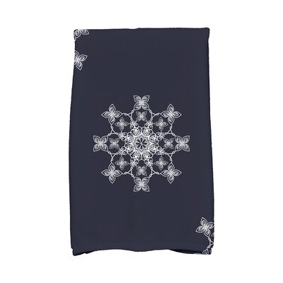 Holiday Wishes Falling Snow Hand Towel