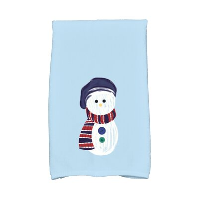 Jump for Joy Sock Snowman Hand Towel Color: Blue
