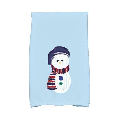 Jump for Joy Sock Snowman Hand Towel Color: Blue