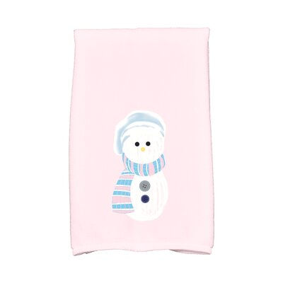 Jump for Joy Sock Snowman Hand Towel Color: Pink