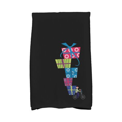Jump for Joy Special Delivery Hand Towel Color: Black