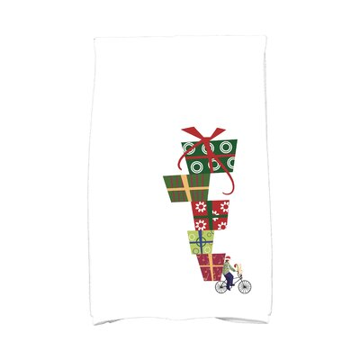 Jump for Joy Special Delivery Hand Towel Color: White